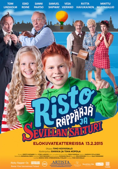 Risto Räppääjä ja Sevillan saituri -elokuvan ensi ilta 13.2.2015